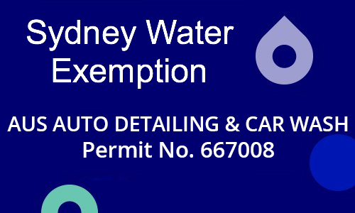 Aus Auto Detailing and Car Wash Sydney Water Permit
